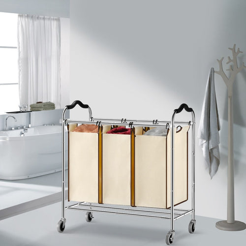 LANGRIA Heavy Duty Rolling Laundry Sorter Cart