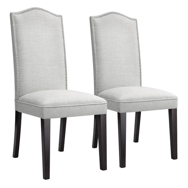 Exceptionnel LANGRIA Modern Faux Linen Upholstered High Back Dining Chair (Set Of 2) ...