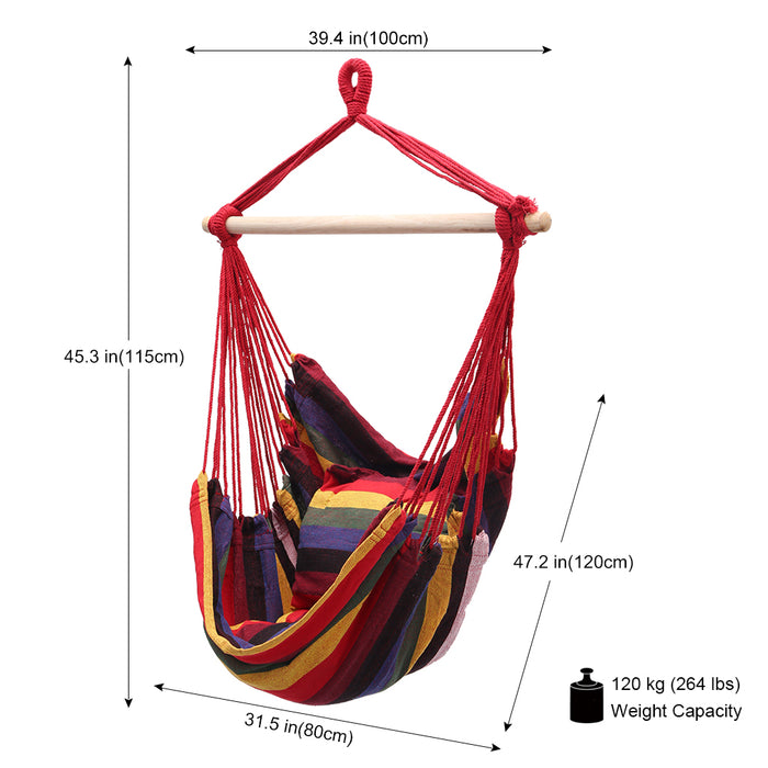 Hanging Rope Hammock Chair Swing Seat
