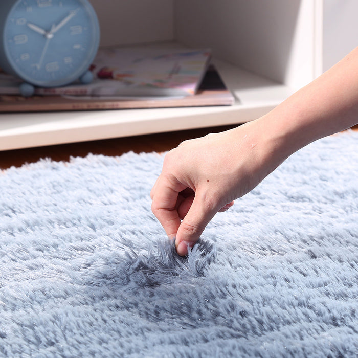 Soft Fluffy Area Rug Anti-Skid Shaggy Comfortable Modern Square Rug