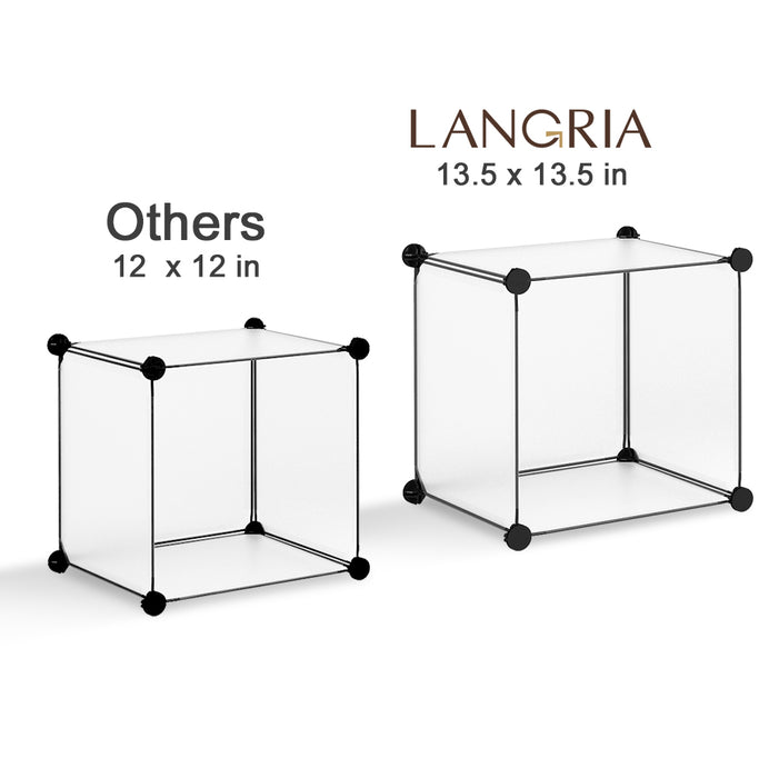 LANGRIA 6-Cube Interlocking Modular Open Storage