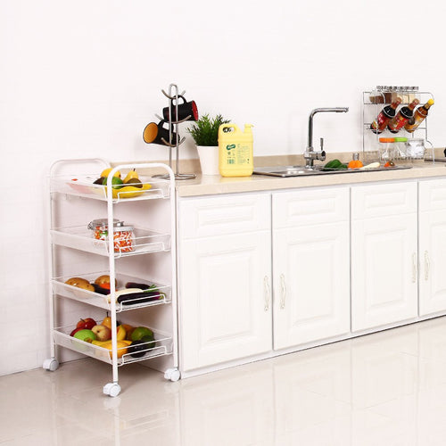 LANGRIA 4-Tier All-Purpose Rolling Cart
