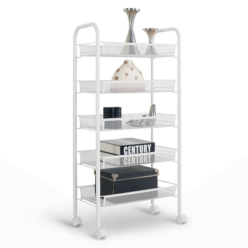 LANGRIA 5 Tier Metal Mesh Serving Trolley