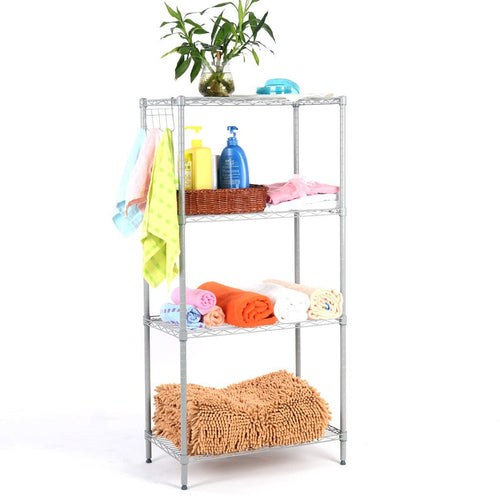 LANGRIA 4-Tier Storage Organization Rack, Grey