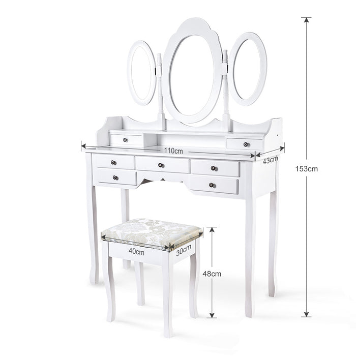 LANGRIA Makeup Dressing Table Vanity and Stool Set