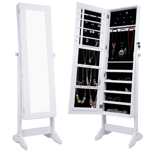 LANGRIA Jewelry Cabinet Armoire