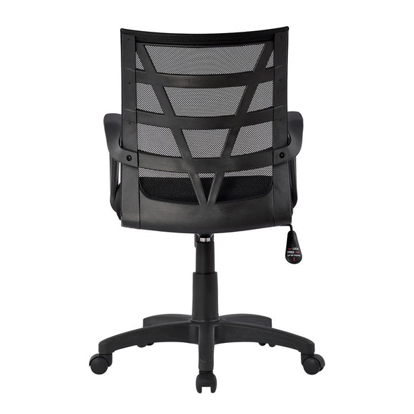 LANGRIA Mid V-Shaped Backrest Mesh Office Chair, Black