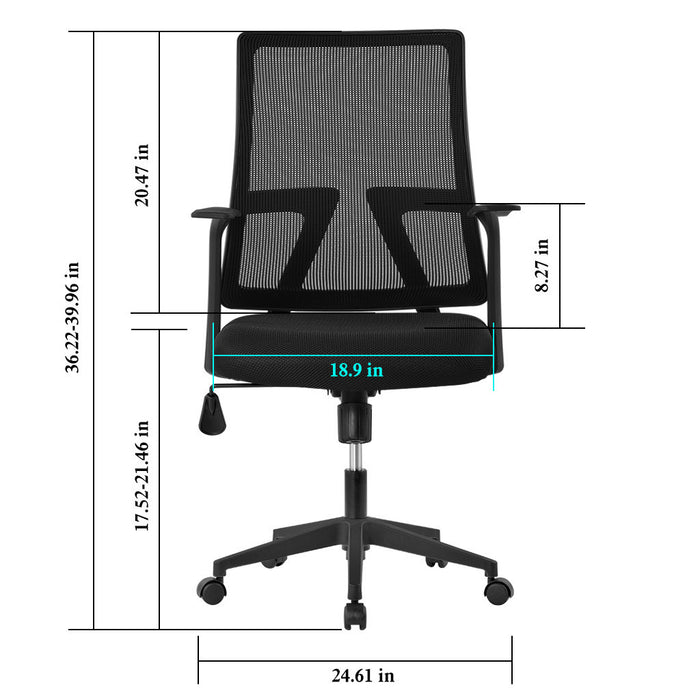 Langria Office Chair Mesh Desk Chairs With Adjustable Armrests