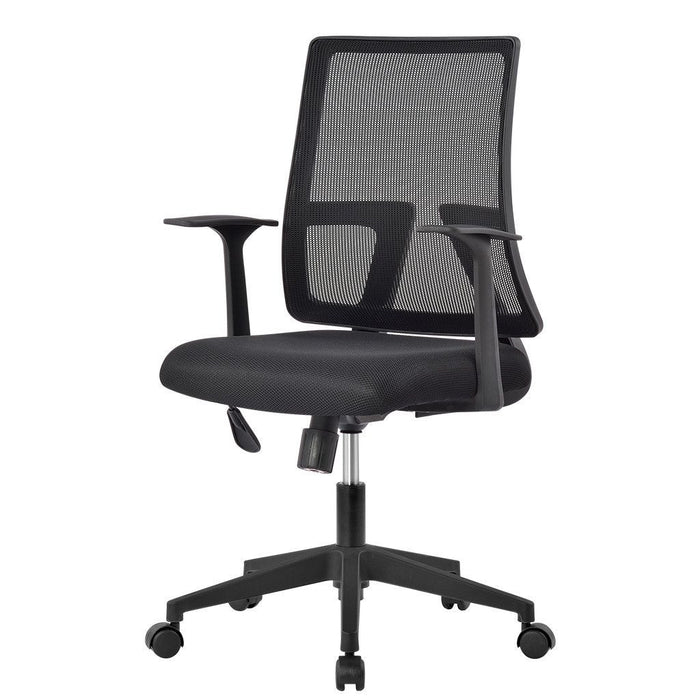 LANGRIA LANGRIA Office Chair Mesh Desk Chairs with Adjustable Armrests and Back Support Ergonomic Swivel Computer Chair for Home Office Study Gaming