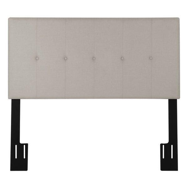 LANGRIA Full/Queen Button Tufted Linen Upholstered Headboard