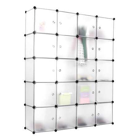 16-Cube DIY Wardrobe Portable Cupboard Cabinet