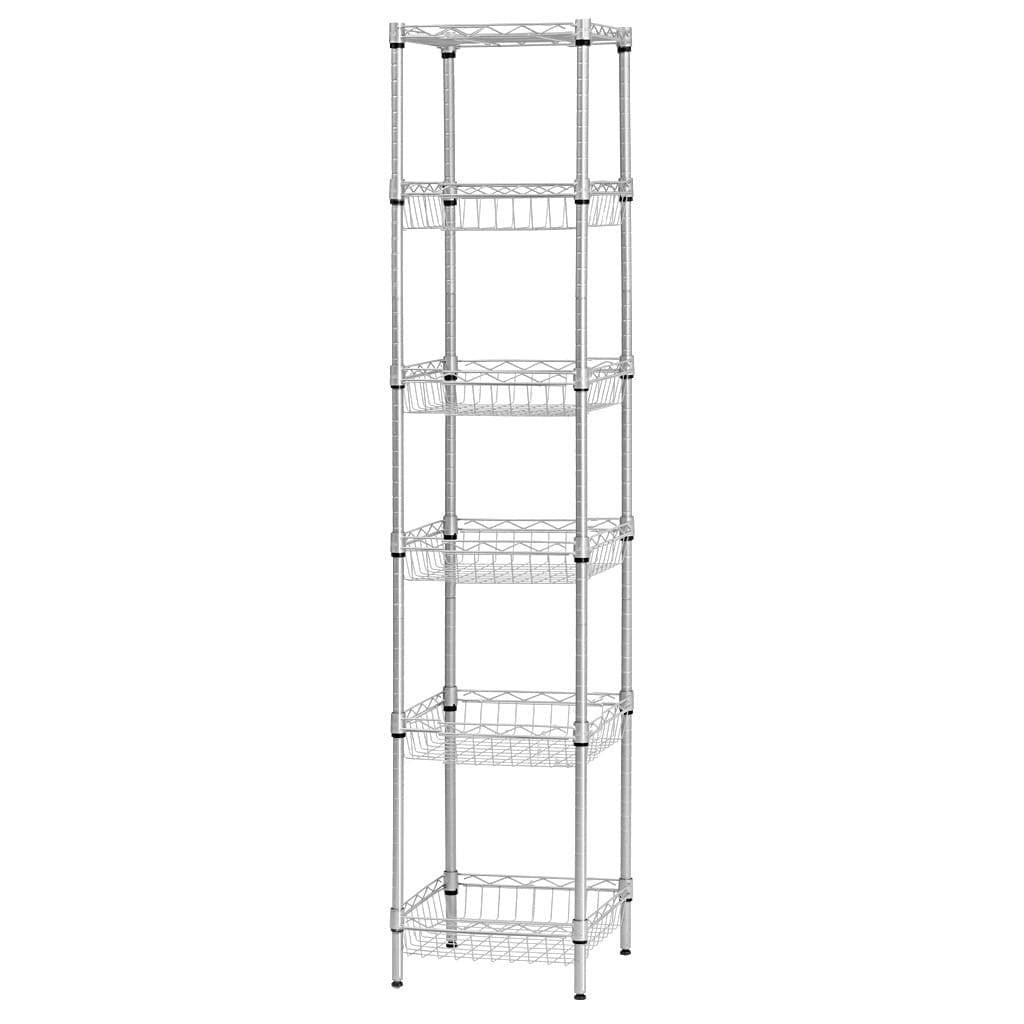6 Tier Wire Storage Rack with Baskets – LANGRIA