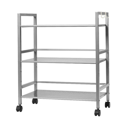 LANGRIA 3 Tier Wire Mesh Rolling Cart
