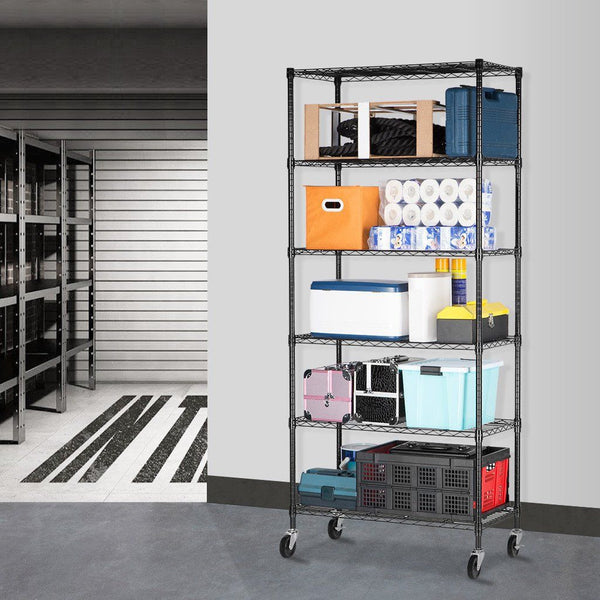 6-Tier Heavy Duty Metal Shelving Storage Rack