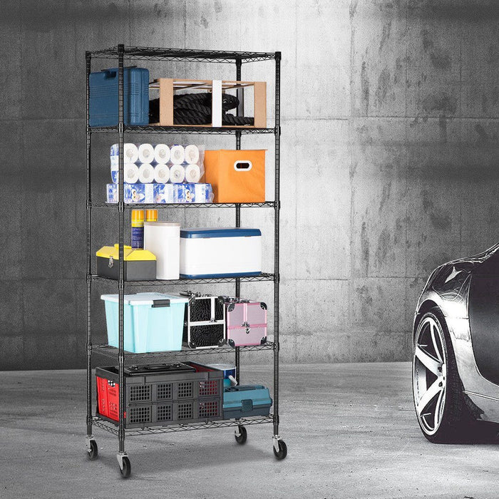LANGRIA 6-Tier Heavy Duty Metal Shelving Storage Rack