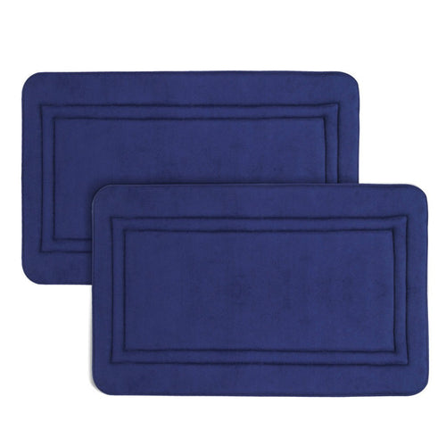 LANGRIA Blue Multipurpose Absorbent Memory Foam Mats 19.7 Inch by 31.5 Inch
