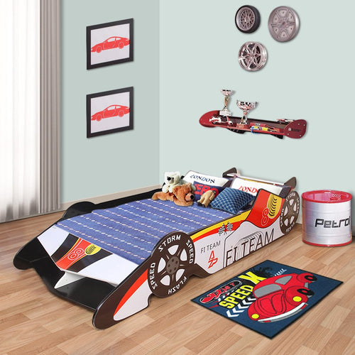 LANGRIA Toddler Race car-Themed Bed