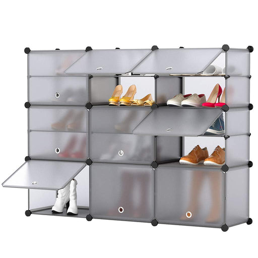 15-Cube Shoe Rack DIY Organizer Units