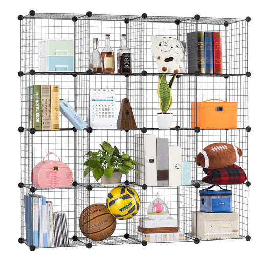 Metal Wire Storage Cubes, Modular Shelving Grids