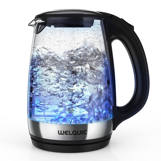 1.7L Glass Electric Kettle with Blue LED Illuminating