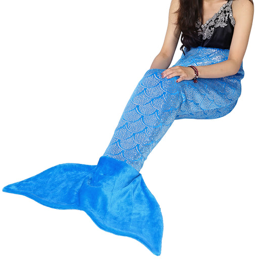 Teen & Adults' Mermaid Tail Blanket – Ocean Blue