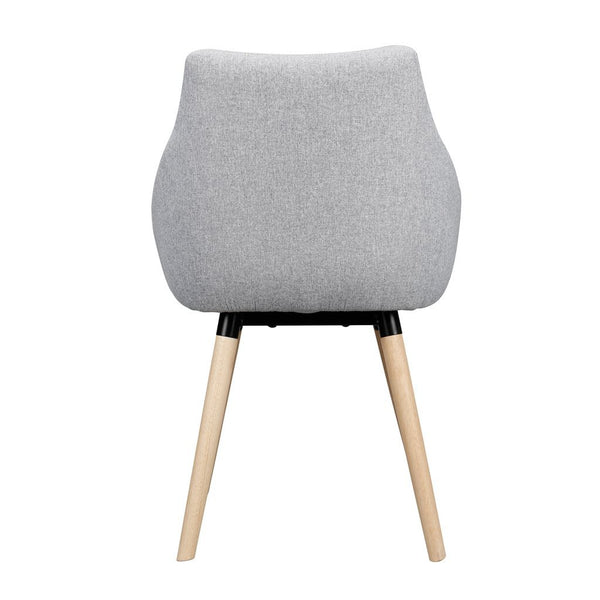 Barrel Back Accent Polyester Fabric Chair