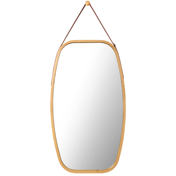 Hanging Wall Mirror Oval Wall-Mounted Full Length Makeup Dressing Room Decor