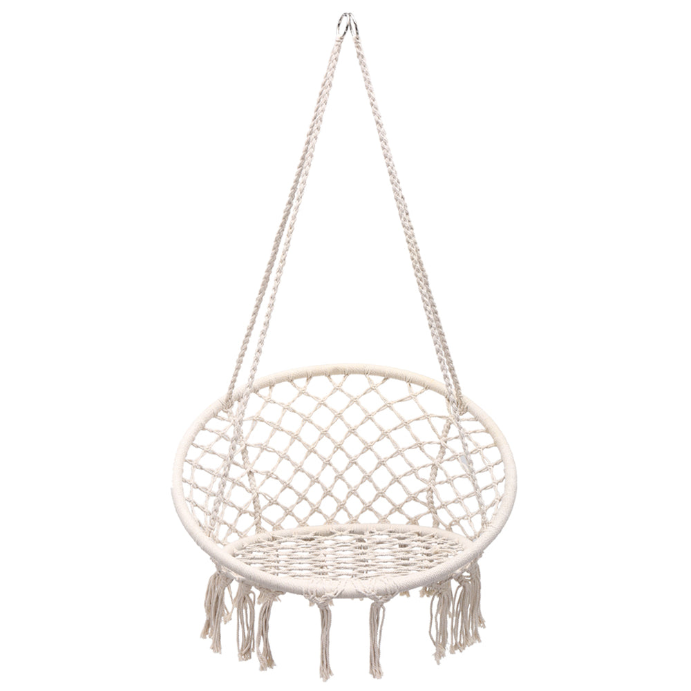 Knitted Macrame Swing Hammock Chair