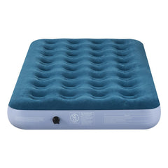 LANGRIA Plush Flocked Mid-Raise Air Mattress (8.5 Inches Height, Twin Size)
