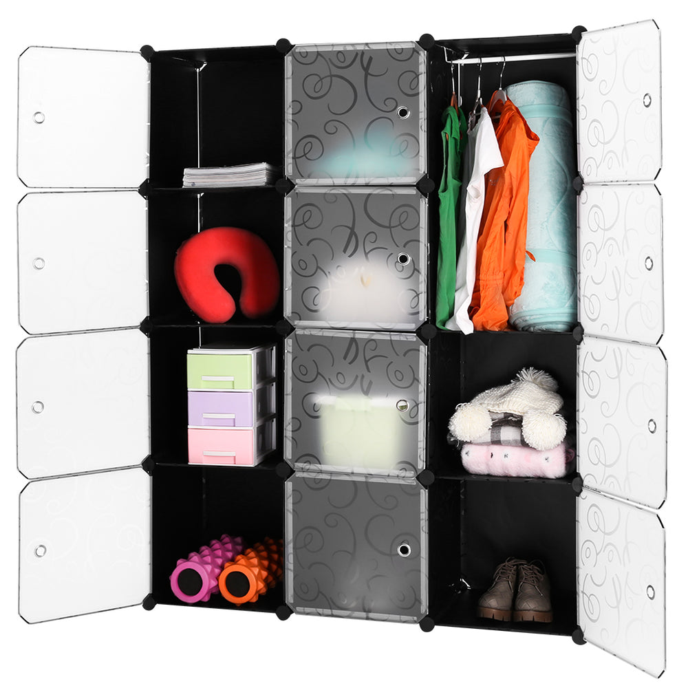 LANGRIA 12-gear Curly Patterned Shelving Closet
