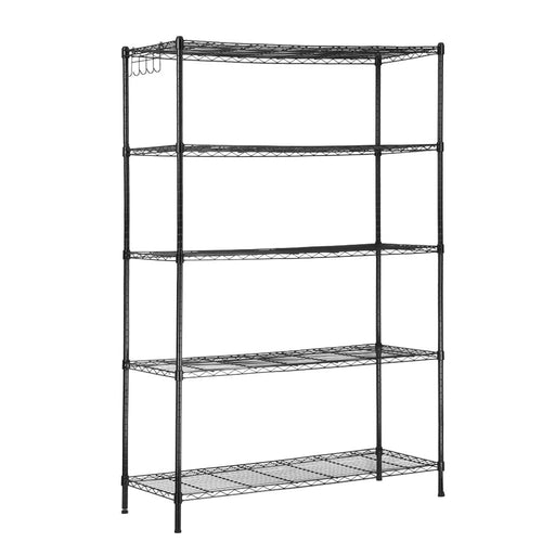 LANGRIA LANGRIA 5 Tier Garage Shelving Shelving Unit, Storage Rack Garage Shelf Heavy Duty Metal Shelves, Black