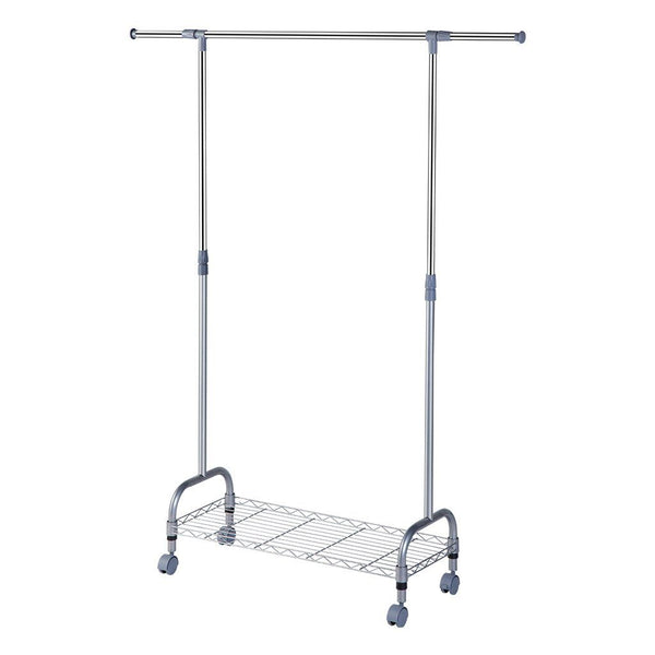 LANGRIA Heavy Duty Steel Double Rail Clothes Storage Garment Rack