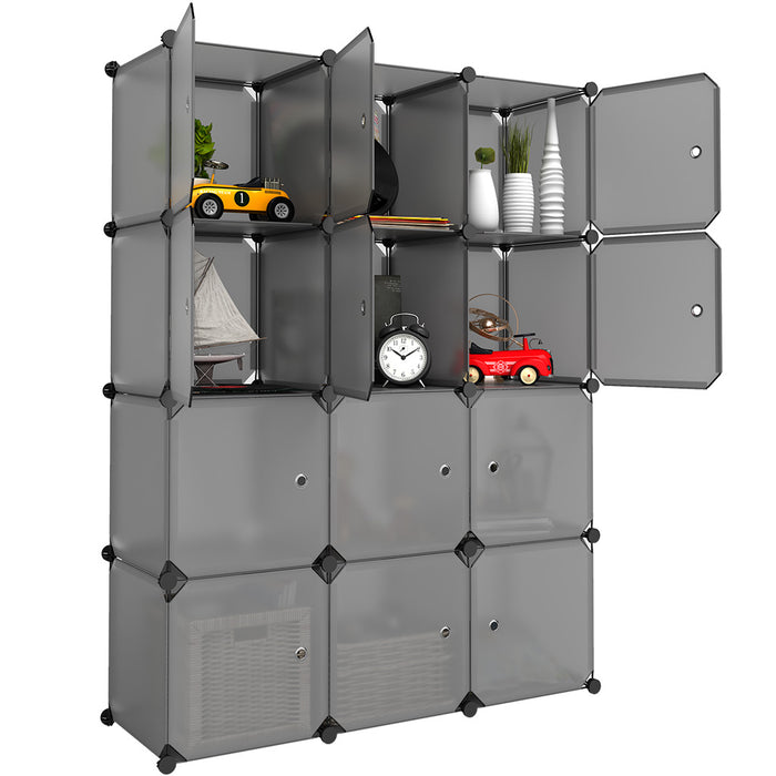12-Cube Cabinet Storage Unit Organiser for Kids