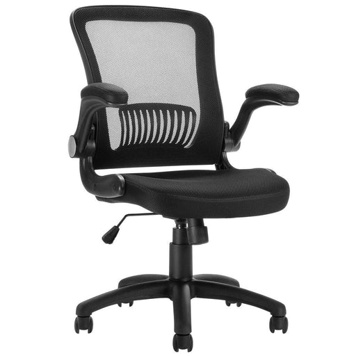 LANGRIA LANGRIA Mesh Office Chair, Ergonomic Mid-Back Design, Swivel Computer Chair with Flip up Armrests for Study Room Home Office
