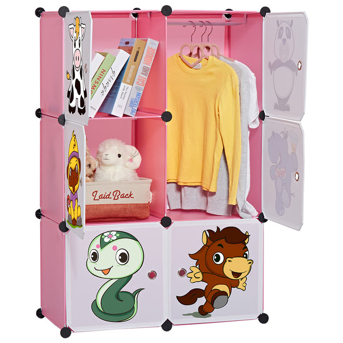 6-Cube Closet Storage Organizer for Kids