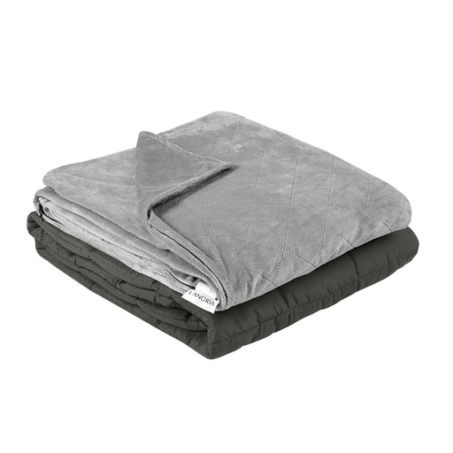 LANGRIA LANGRIA Weighted Blanket 60x80 Inches, 20 lbs with Removable Super Soft Minky Cover and Premium Glass Beads Filling for Adults and Children, Heavy Blanket for Bed Sofa