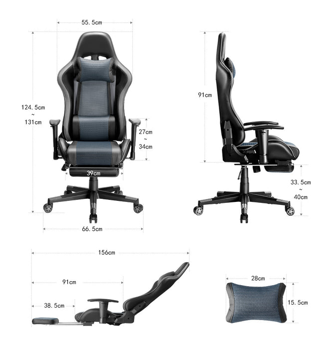 High Back Ergonomic Office/Gaming Chair - Grey