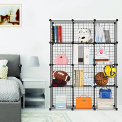 LANGRIA Black Wired Bookcase