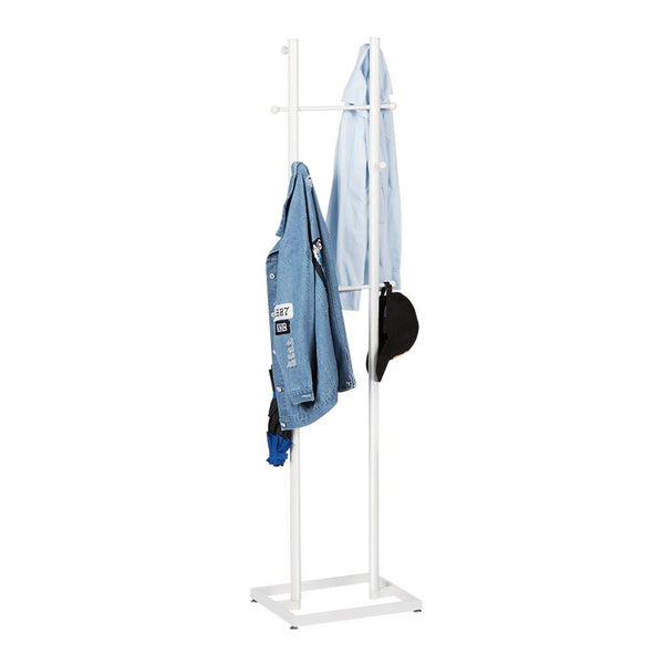 LANGRIA All-Metal 8 Hooks Coat Stand