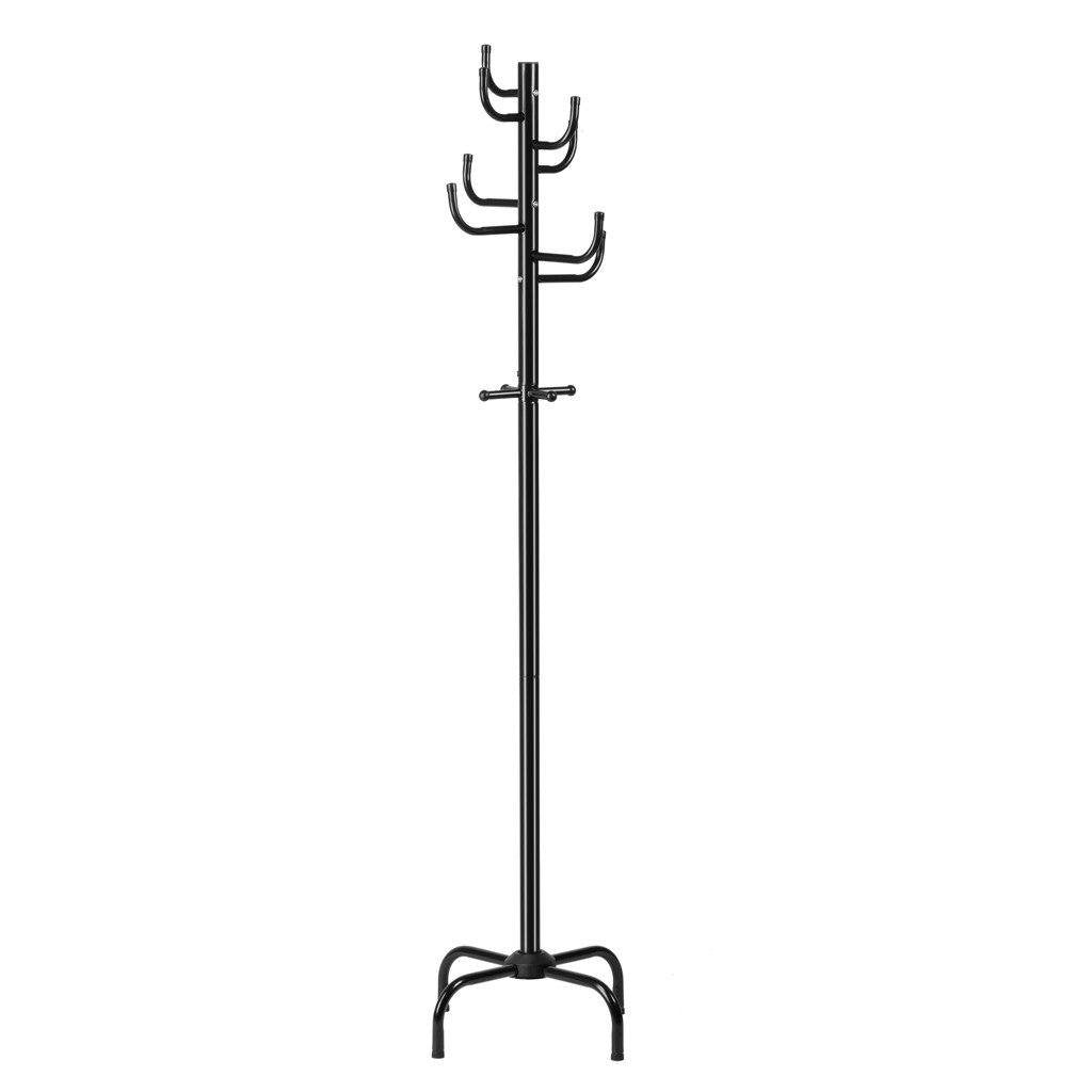 modern free standing metal coat rack and hat hanger – langria - modern free standing metal coat rack and hat hanger