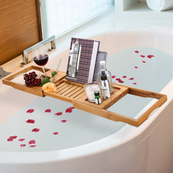 Bath Tray Bamboo Bathtub Caddy – LANGRIA