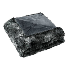 LANGRIA Faux Fur Fleece Throw Blanket (50''x 60'')