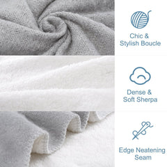 LANGRIA Soft Cozy Boucle Throw Blanket