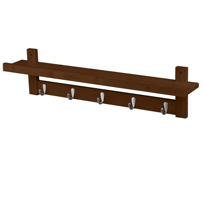 Bamboo Wall Mounted Coat Rack Home Modern Wood Wall Mounted Coat And Hat US