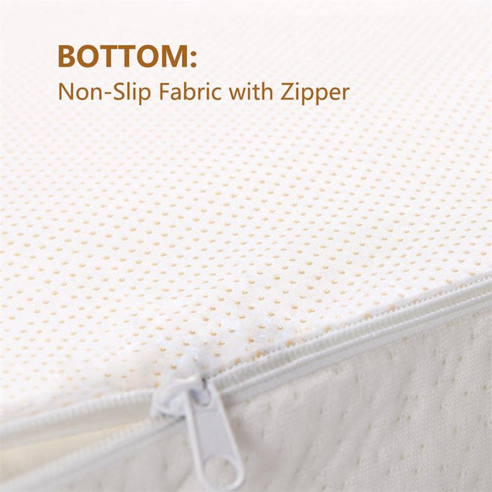 3-Inch Hypoallergenic Mattress Topper Twin | Memory Foam w/ Removable Bamboo Cover