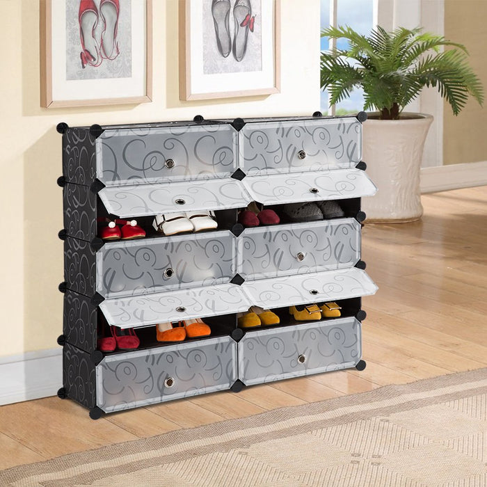10-Cube DIY Shoe Rack