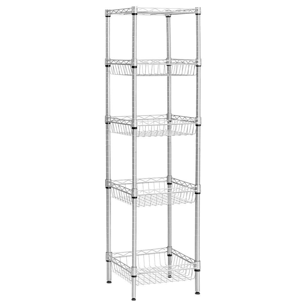 5 Tier Wire Storage Rack with Baskets – LANGRIA