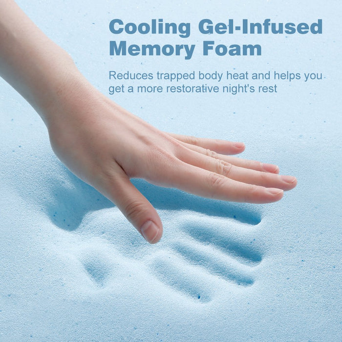 3-Inch Gel-Infused Memory Foam Mattress Topper CertiPUR-US Certified Gel Memory Foam