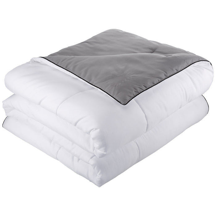 Reversible Down Alternative Duvet 300 GSM, All-Season Soft & Lightweight Quilt