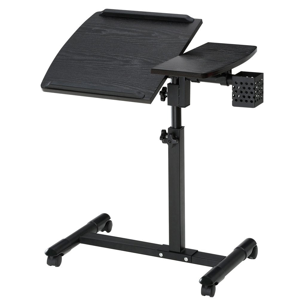 Brand-new Laptop Desk Cart with Tilting Surfaces for Right and Left-Handed  OQ85